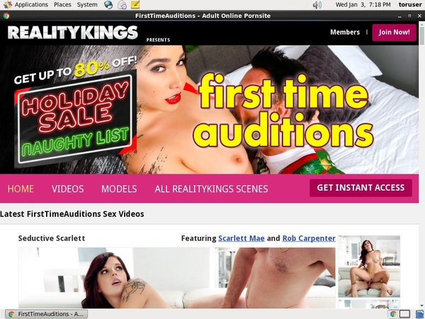 Account For Firsttimeauditions