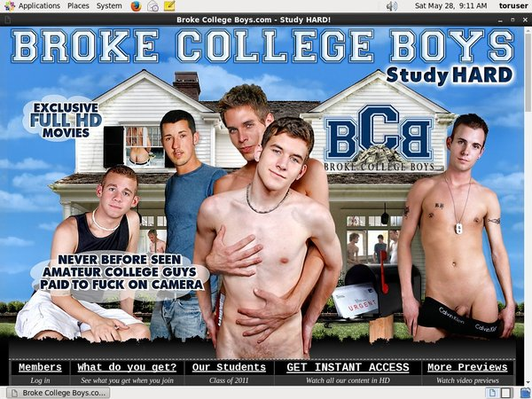 Broke College Boys Discount Passes