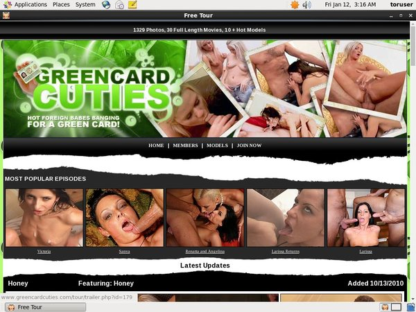 Password To Green Card Cuties