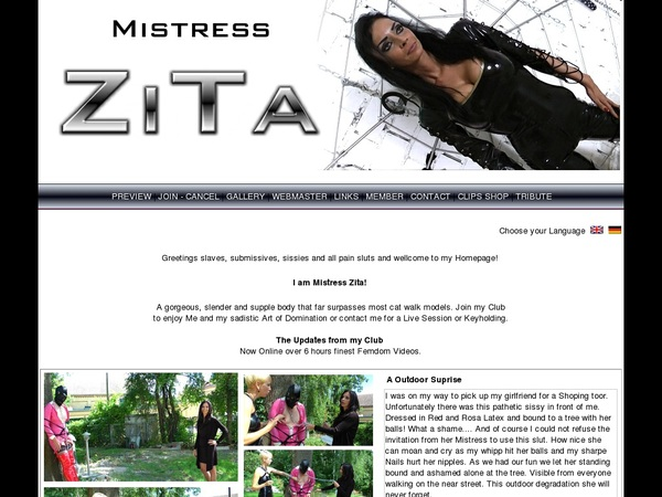 Mistress Zita Subscription Deal