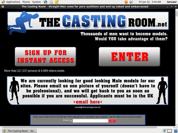 Join The Casting Room Paypal